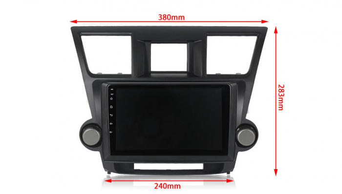 Navigatie Toyota Highlander 2 (2007-2014), NAVI-IT, 10.1 Inch, 1GB RAM 16 GB ROM, Android 9,1, WiFi, Bluetooth, Magazin Play, Camera Marsarier [3]