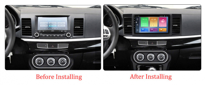 Navigatie Mitsubishi Lancer 2007-2012, NAVI-IT, 10.1 Inch, 4GB RAM 64GB ROM, IPS, DSP, RDS, 4G, Android 10 , WiFi, Bluetooth, Magazin Play, Camera Marsarier [1]