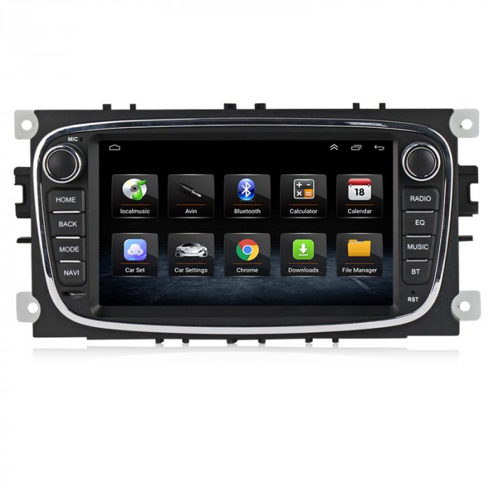 Navigatie NAVI-IT 4 GB RAM + 64 GB ROM Gps Android Ford Mondeo Focus S Max Transit Tourneo, Interne ,Aplicatii , Waze , Wi Fi , Usb , Bluetooth , Mirrorlink 2