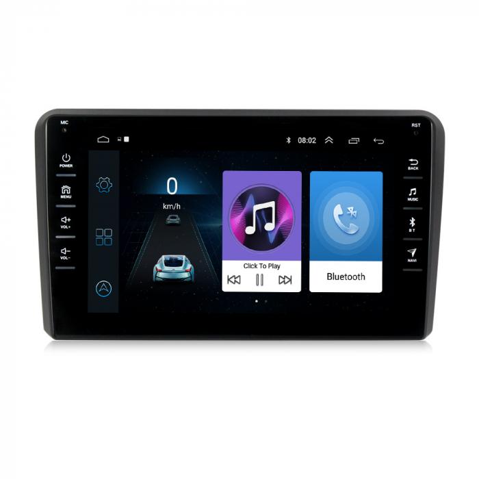 Navigatie NAVI-IT, 1GB RAM 16GB ROM,Audi A3, Android 9.1, Display IPS, Functie RDS, Bluetooth, WiFi, Magazin Play, Camera Marsarier [0]