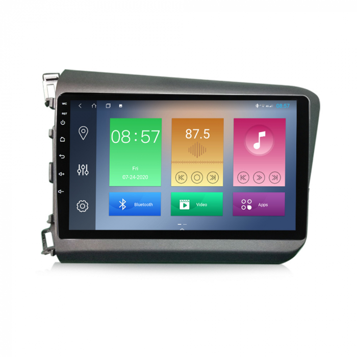Navigatie Honda Civic 2012-2015, NAVI-IT, 9 Inch, 2GB RAM 32GB ROM, Android 9.1 , WiFi, Bluetooth, Magazin Play, Camera Marsarier [0]