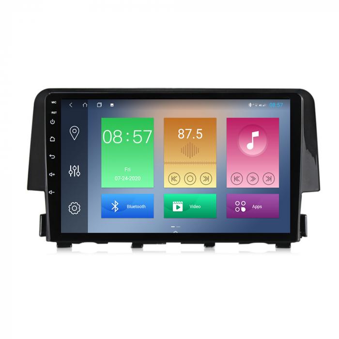 Navigatie Honda Civic 2016-2018, NAVI-IT, 9 Inch, 2GB RAM 32GB ROM, Android 9.1 , WiFi, Bluetooth, Magazin Play, Camera Marsarier [0]
