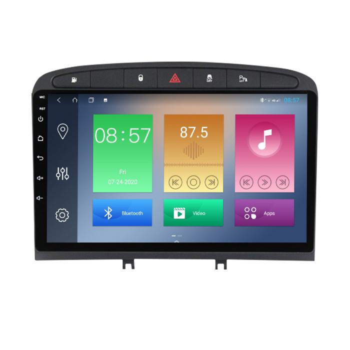 Navigatie Peugeot 408, NAVI-IT, 9 Inch, 1GB RAM 16GB ROM, Android 9.1, WiFi, Bluetooth, Magazin Play, Camera Marsarier [6]