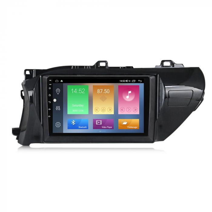 Navigatie Toyota Hilux 2016, NAVI-IT, 10.2 Inch, 1GB RAM 16GB ROM, Android 9.1 , WiFi, Bluetooth, Magazin Play, Camera Marsarier [0]