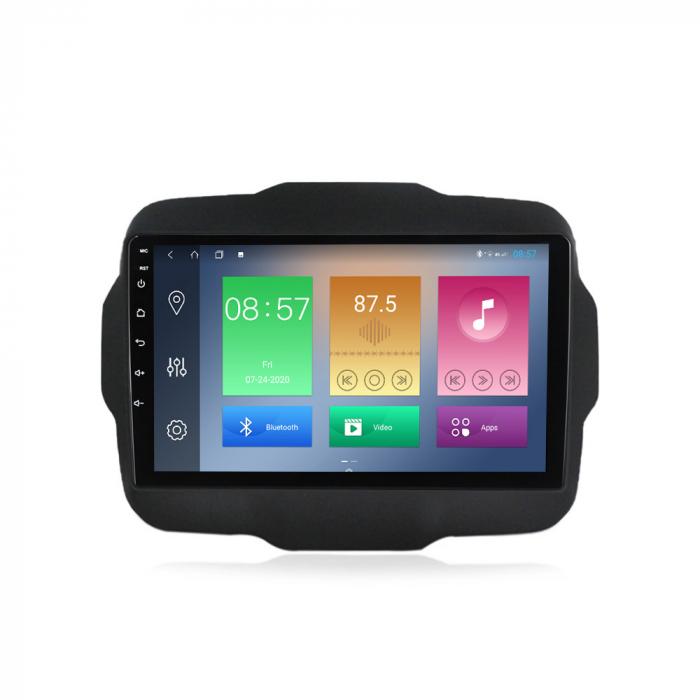 Navigatie Jeep Renegade 2016-2018, NAVI-IT, 9 Inch, 4GB RAM 64GB ROM, IPS, DSP, RDS, 4G, Android 10 , WiFi, Bluetooth, Magazin Play, Camera Marsarier [0]