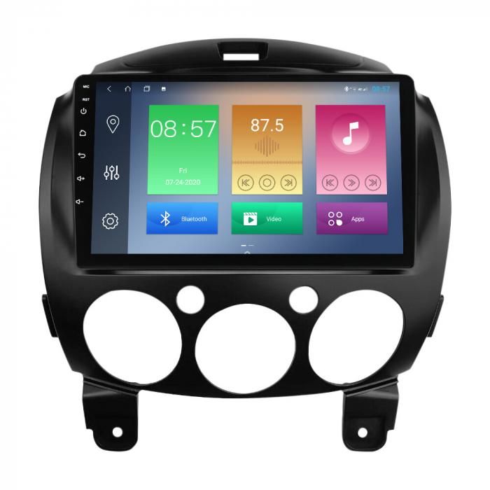 Navigatie Mazda 2 2007-2014, NAVI-IT, 9 Inch, 1GB RAM 16GB ROM, Android 9.1, WiFi, Bluetooth, Magazin Play, Camera Marsarier [0]