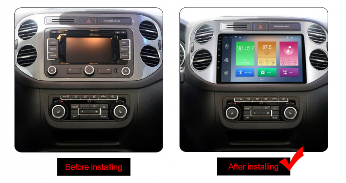 Navigatie Volkswagen Tiguan, NAVI-IT, 9 Inch, 1GB RAM 16 GB ROM, Android 9,1, WiFi, Bluetooth, Magazin Play, Camera Marsarier [1]