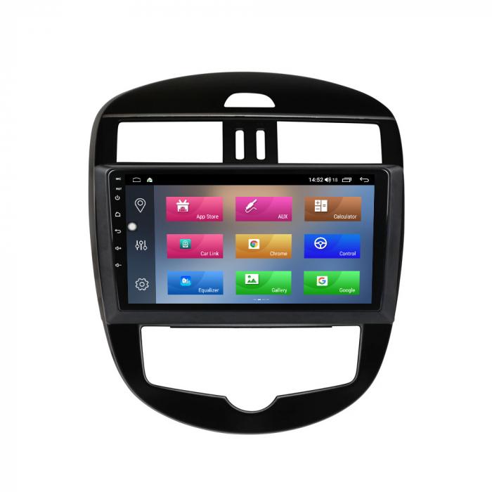 Navigatie Nissan Tiida 2011-2015, 10.25 Inch, 1GB RAM 16GB ROM, Android 9.1, WiFi, Bluetooth, Magazin Play, Camera Marsarier [0]