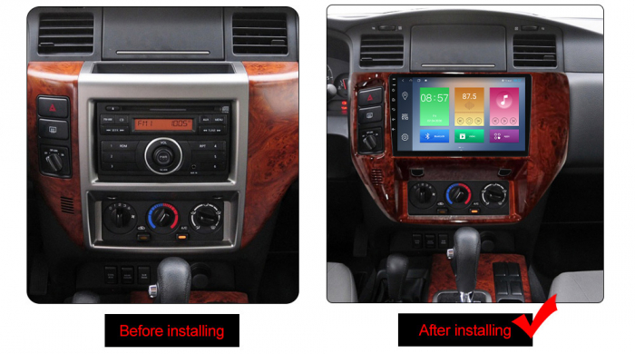 Navigatie Nissan Patrol 2011-2015, NAVI-IT, 9 Inch, 3GB RAM 32GB ROM, IPS, DSP, RDS, 4G, Android 10 , WiFi, Bluetooth, Magazin Play, Camera Marsarier [2]