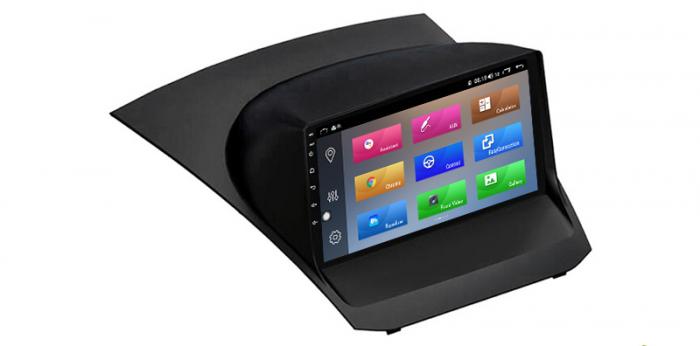"""Navigatie NAVI-IT 4 GB RAM + 64 GB ROM , Gps Ford Fiesta ( 2009 - 2017 ) , Android, Display 9 """" , Internet, Aplicatii , Waze , Wi Fi , Usb , Bluetooth , Mirrorlink 2"""