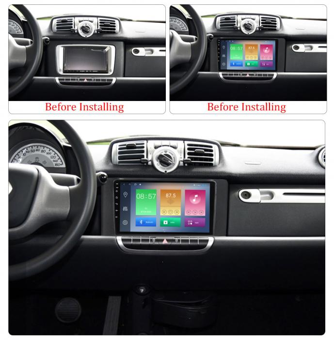 Navigatie NAVI-IT, Smart Fortwo 2011-2015, 4 GB RAM 64GB ROM, Android 10, IPS, DSP, RDS, Bluetooth, WiFi, Magazin Play, Camera Marsarier [1]