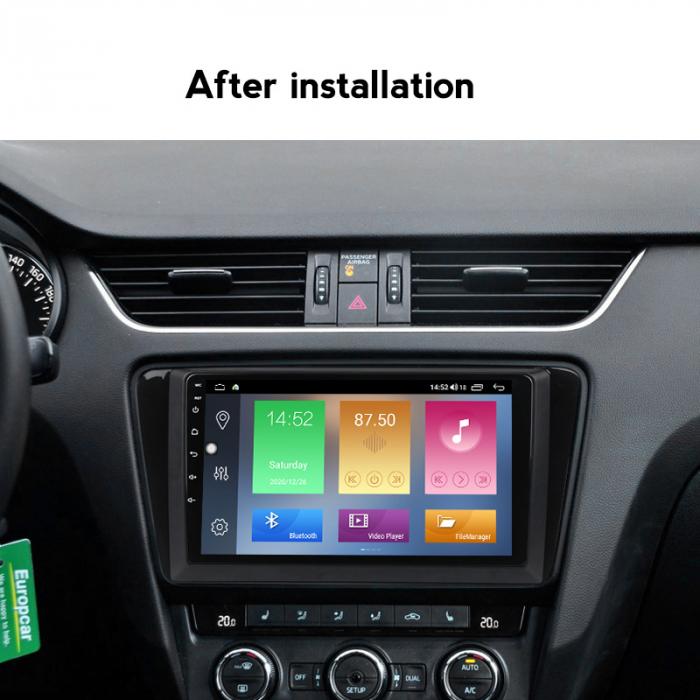Navigatie Skoda Octavia A7 2014, NAVI-IT, 10.1 Inch, 1GB RAM 16 GB ROM, Android 9,1, WiFi, Bluetooth, Magazin Play, Camera Marsarier [4]