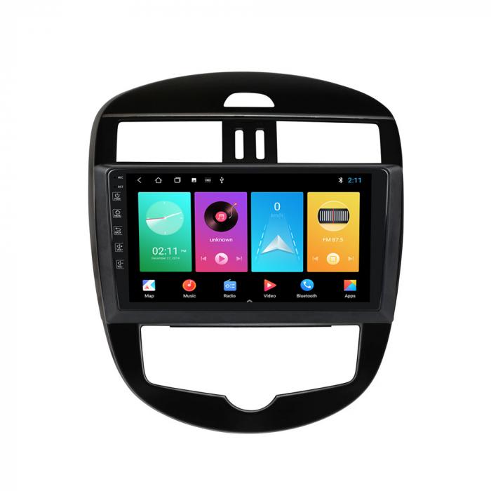 Navigatie Nissan Tiida 2011-2015, 10.25 Inch, 1GB RAM 16GB ROM, Android 9.1, WiFi, Bluetooth, Magazin Play, Camera Marsarier [2]