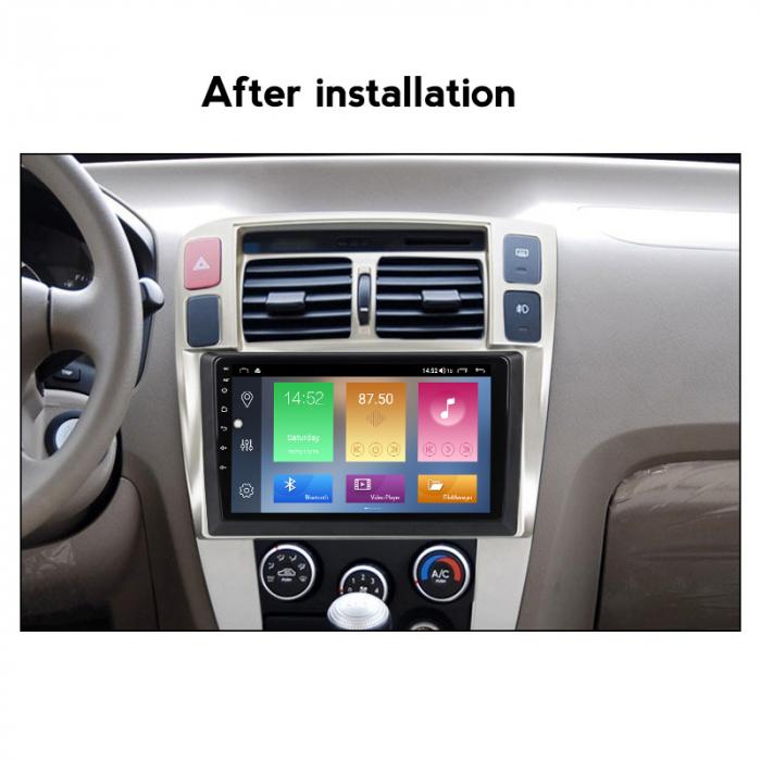 Navigatie Hyundai Tucson 1 2004-2009, NAVI-IT, 9 Inch, 4GB RAM 64GB ROM, IPS, DSP, RDS, 4G, Android 10 , WiFi, Bluetooth, Magazin Play, Camera Marsarier [3]