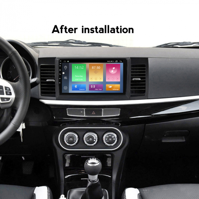 Navigatie Mitsubishi Lancer 2007-2012, NAVI-IT, 10.1 Inch, 4GB RAM 64GB ROM, IPS, DSP, RDS, 4G, Android 10 , WiFi, Bluetooth, Magazin Play, Camera Marsarier [3]