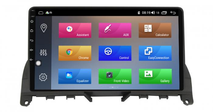 Navigatie NAVI-IT 2 GB RAM + 32 GB ROM Mercedes C Class W204 ( 2006 - 2012 ) , Android , Display 9 inch , Internet , Aplicatii , Waze , Wi Fi , Usb , Bluetooth , Mirrorlink 0