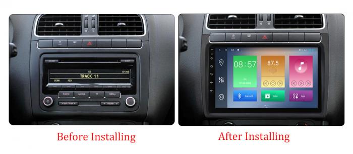 Navigatie Volkswagen Polo 2012-2015, NAVI-IT, 9 Inch, 2GB RAM 32GB ROM, Android 9,1, WiFi, Bluetooth, Magazin Play, Camera Marsarier [1]