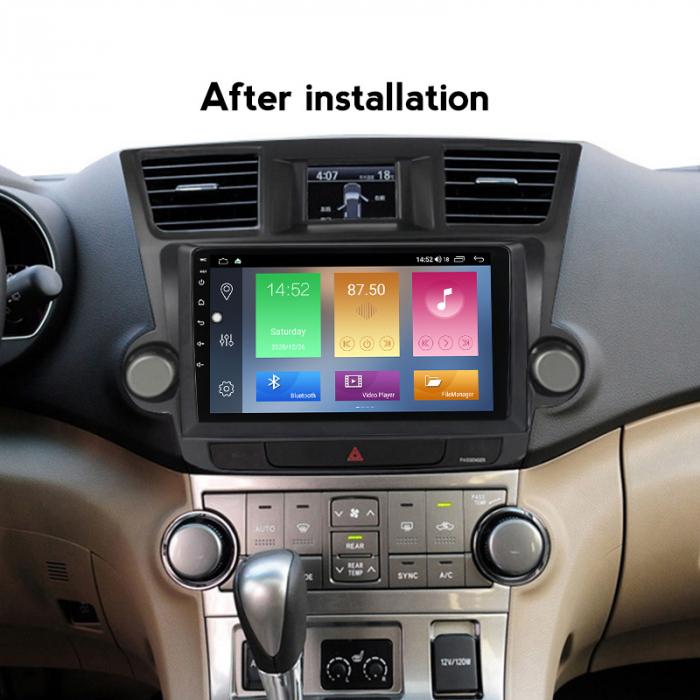 Navigatie Toyota HIghlander 2 (2007-2014), NAVI-IT, 9 Inch, 4GB RAM 64GB ROM, IPS, DSP, RDS, 4G, Android 10 , WiFi, Bluetooth, Magazin Play, Camera Marsarier [5]