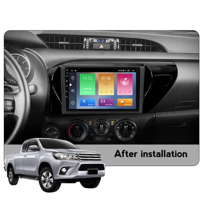 Navigatie Toyota Hilux 2016, NAVI-IT, 10.2 Inch, 1GB RAM 16GB ROM, Android 9.1 , WiFi, Bluetooth, Magazin Play, Camera Marsarier [4]