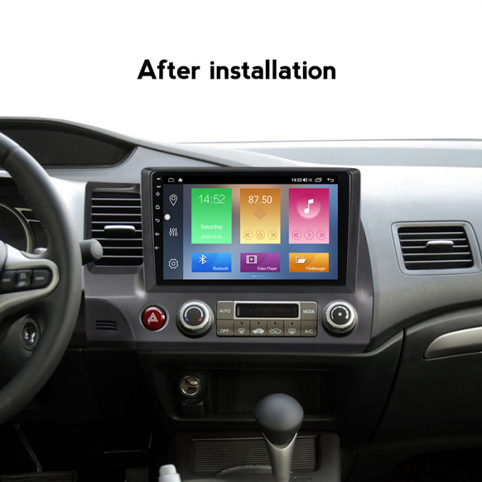 Navigatie Honda Civic 2006-2011, NAVI-IT, 10.2 Inch, 2GB RAM 32GB ROM, Android 9.1 , WiFi, Bluetooth, Magazin Play, Camera Marsarier [4]