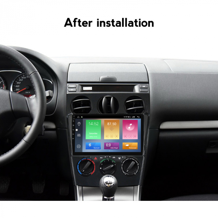 Navigatie Mazda 6 2002-2008, NAVI-IT, 9 Inch, 4GB RAM 64GB ROM, IPS, DSP, RDS, 4G, Android 10 , WiFi, Bluetooth, Magazin Play, Camera Marsarie [4]