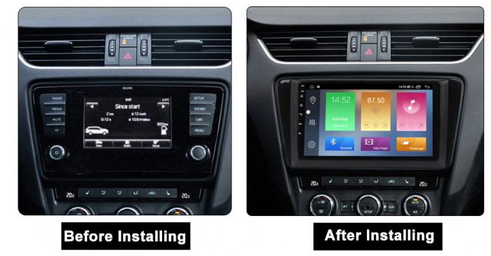 Navigatie Skoda Octavia A7 2014, NAVI-IT, 10.1 Inch, 1GB RAM 16 GB ROM, Android 9,1, WiFi, Bluetooth, Magazin Play, Camera Marsarier [1]
