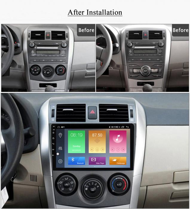 Navigatie Toyota Corolla 2010 NAVI-IT,9 Inch, 4GB RAM 64GB ROM, IPS, DSP, RDS, 4G, Android 10 , WiFi, Bluetooth, Magazin Play, Camera Marsarier [1]
