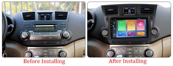 Navigatie Toyota HIghlander 2 (2007-2014), NAVI-IT, 9 Inch, 4GB RAM 64GB ROM, IPS, DSP, RDS, 4G, Android 10 , WiFi, Bluetooth, Magazin Play, Camera Marsarier [1]