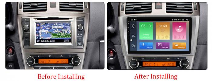 Navigatie Toyota Avensis 2011-2015, NAVI-IT, 9 Inch, 1GB RAM 16GB ROM, Android 9.1 , WiFi, Bluetooth, Magazin Play, Camera Marsarier [1]