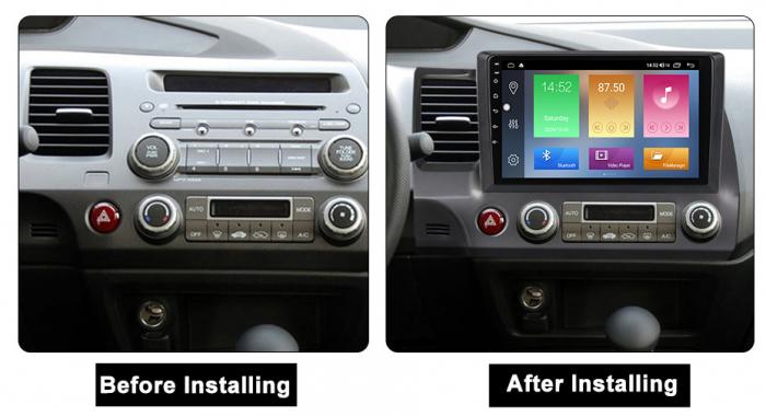 Navigatie Honda Civic 2006-2011, NAVI-IT, 10.2Inch, 4GB RAM 64GB ROM, IPS, DSP, RDS, 4G, Android 10 , WiFi, Bluetooth, Magazin Play, Camera Marsarier [1]