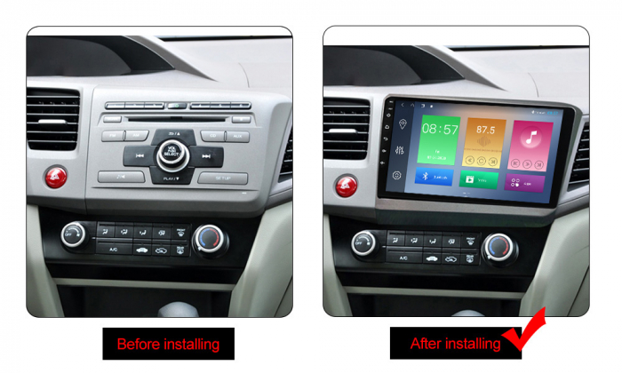 Navigatie Honda Civic 2012-2015, NAVI-IT, 9 Inch, 1GB RAM 16GB ROM, Android 9.1 , WiFi, Bluetooth, Magazin Play, Camera Marsarier [1]