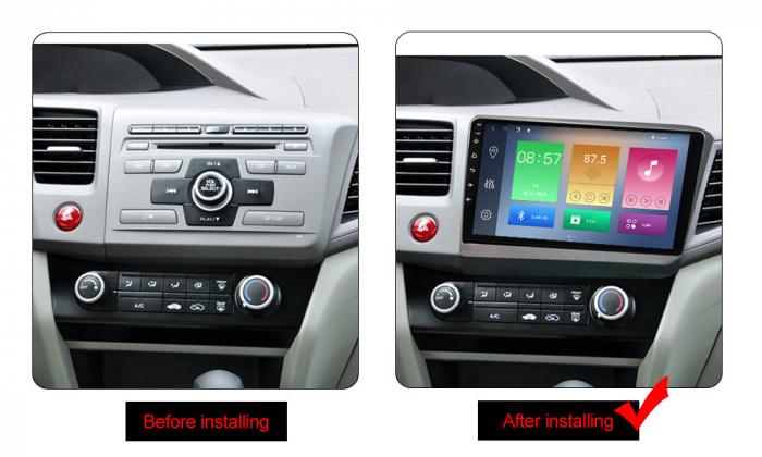 Navigatie Honda Civic 2012-2015, NAVI-IT, 9 Inch, 2GB RAM 32GB ROM, Android 9.1 , WiFi, Bluetooth, Magazin Play, Camera Marsarier [1]
