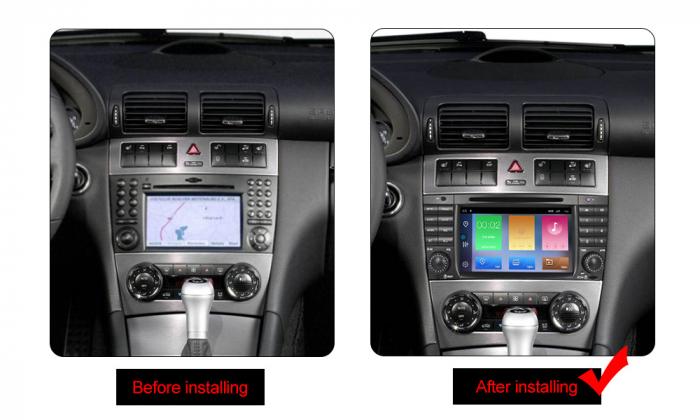 Navigatie NAVI-IT 2 GB RAM + 16 GB ROM Mercedes C Class W203 , CLK W209 , Android 10, Internet, Aplicatii , Waze , Wi Fi , Usb , Bluetooth , Mirrorlink - Copie 1