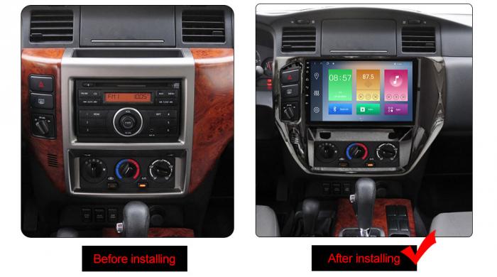 Navigatie Nissan Patrol 2011-2015, NAVI-IT, 9 Inch, 1GB RAM 16GB ROM, Android 9.1, WiFi, Bluetooth, Magazin Play, Camera Marsarier [1]