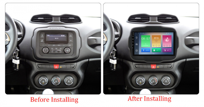 Navigatie Jeep Renegade 2016-2018, NAVI-IT, 9 Inch, 2GB RAM 32GB ROM, Android 9.1, WiFi, Bluetooth, Magazin Play, Camera Marsarier [1]
