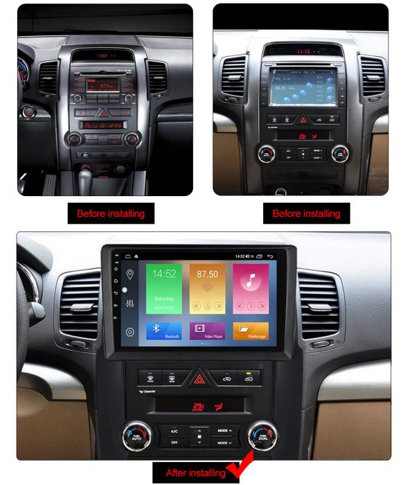 Navigatie Kia Sorento 2 2009-2012, NAVI-IT, 9 Inch, 1GB RAM 16GB ROM, Android 9.1, WiFi, Bluetooth, Magazin Play, Camera Marsarier [1]