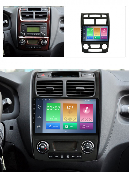 Navigatie Kia Sportage 2004-2010, NAVI-IT, 9 Inch, 2GB RAM 32GB ROM, Android 9.1, WiFi, Bluetooth, Magazin Play, Camera Marsarier [7]