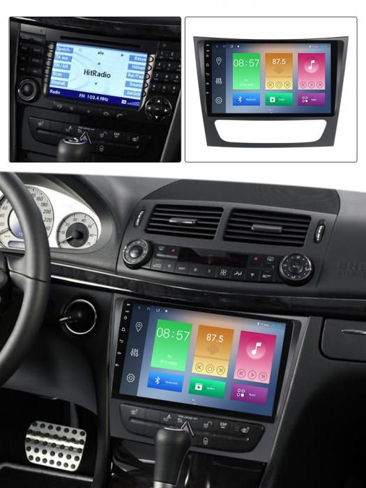 Navigatie NAVI-IT, Mercedes W211, 9 Inch, 1GB RAM 16 GB ROM, Android 9,1, WiFi, Bluetooth, Magazin Play, Camera Marsarier [3]
