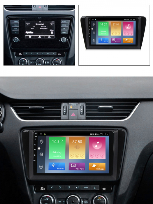 Navigatie Skoda Octavia A7 2014, NAVI-IT, 10.1 Inch, 1GB RAM 16 GB ROM, Android 9,1, WiFi, Bluetooth, Magazin Play, Camera Marsarier [5]