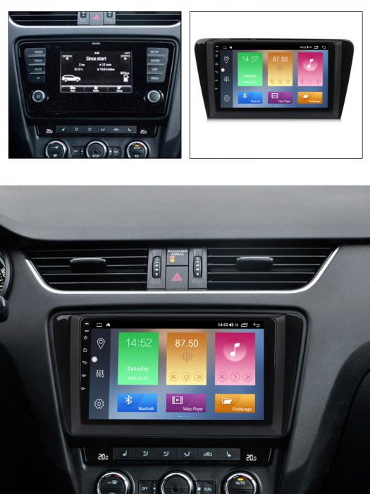 Navigatie Skoda Octavia A7 2014 NAVI-IT, 10.1 Inch, 4GB RAM 64GB ROM, IPS, DSP, RDS, 4G, Android 10 , WiFi, Bluetooth, Magazin Play, Camera [5]