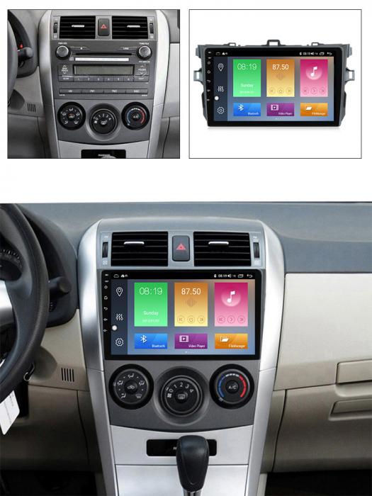 Navigatie Toyota Corolla 2010 NAVI-IT,9 Inch, 4GB RAM 64GB ROM, IPS, DSP, RDS, 4G, Android 10 , WiFi, Bluetooth, Magazin Play, Camera Marsarier [4]