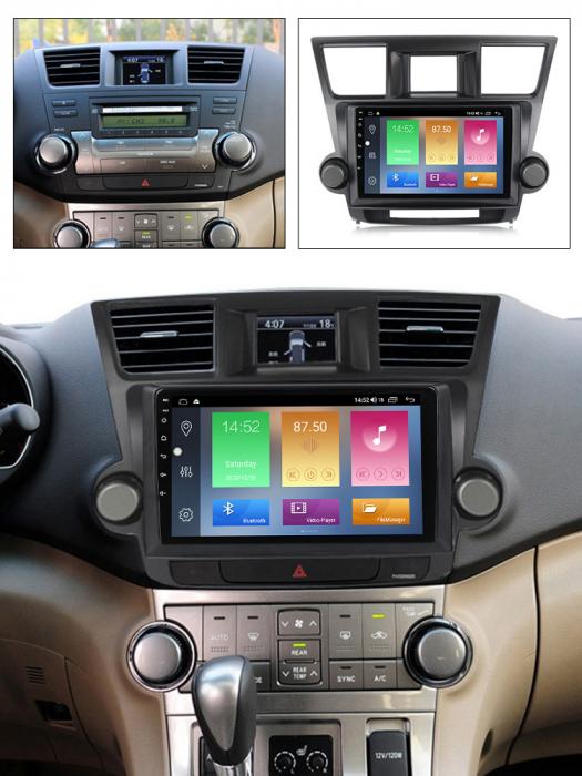 Navigatie Toyota Highlander 2 (2007-2014), NAVI-IT, 10.1 Inch, 2GB RAM 32GB ROM, Android 9,1, WiFi, Bluetooth, Magazin Play, Camera Marsarier [6]