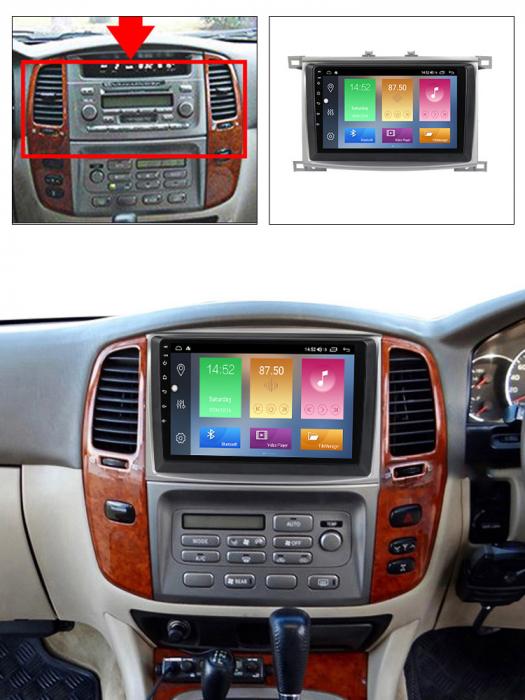 Navigatie Toyota Land Cruiser 2005, NAVI-IT, 9 Inch, 4GB RAM 64GB ROM, IPS, DSP, RDS, 4G, Android 10 , WiFi, Bluetooth, Magazin Play, Camera Marsarier [4]