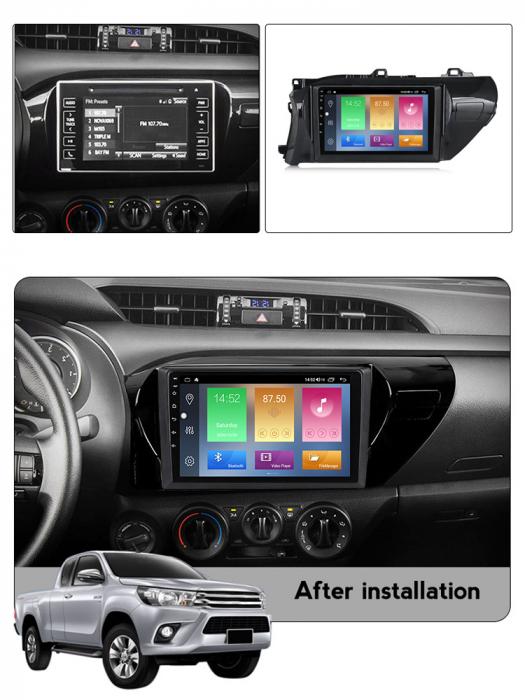 Navigatie Toyota Hilux 2016, NAVI-IT, 10.2 Inch, 4GB RAM 64GB ROM, IPS, DSP, RDS, 4G, Android 10 , WiFi, Bluetooth, Magazin Play, Camera Marsarier [5]
