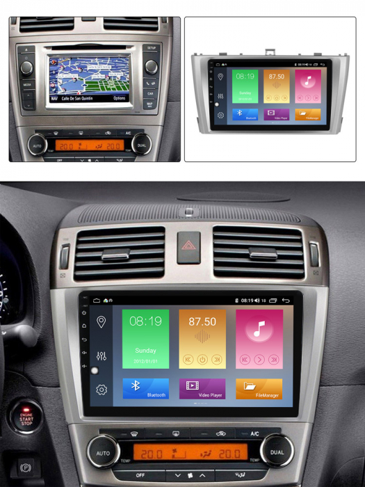 Navigatie Toyota Avensis 2011-2015, NAVI-IT, 9 Inch, 4GB RAM 64GB ROM, IPS, DSP, RDS, 4G, Android 10 , WiFi, Bluetooth, Magazin Play, Camera Marsarier [4]