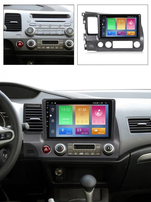 Navigatie Honda Civic 2006-2011, NAVI-IT, 10.2Inch, 4GB RAM 64GB ROM, IPS, DSP, RDS, 4G, Android 10 , WiFi, Bluetooth, Magazin Play, Camera Marsarier [5]
