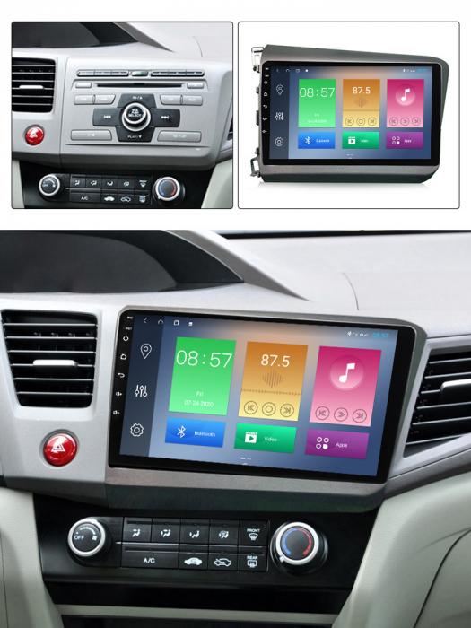 Navigatie Honda Civic 2012-2015, NAVI-IT, 9 Inch, 1GB RAM 16GB ROM, Android 9.1 , WiFi, Bluetooth, Magazin Play, Camera Marsarier [3]