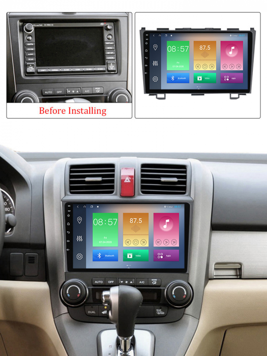 Navigatie Honda CR-V 2006-2011, NAVI-IT, 9 Inch, 2GB RAM 32GB ROM, Android 9.1 , WiFi, Bluetooth, Magazin Play, Camera Marsarier [4]