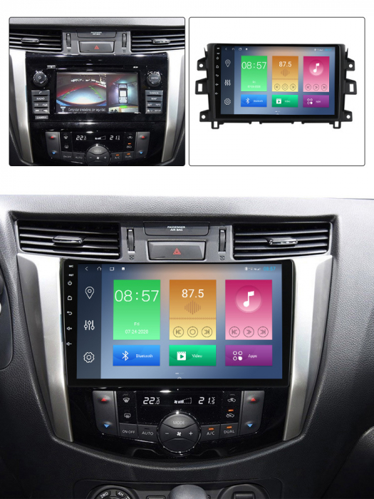 Navigatie Nissan Navara 2011-2016, NAVI-IT, 10.1Inch, 4GB RAM 64GB ROM, IPS, DSP, RDS, 4G, Android 10 , WiFi, Bluetooth, Magazin Play, Camera Marsarier [3]