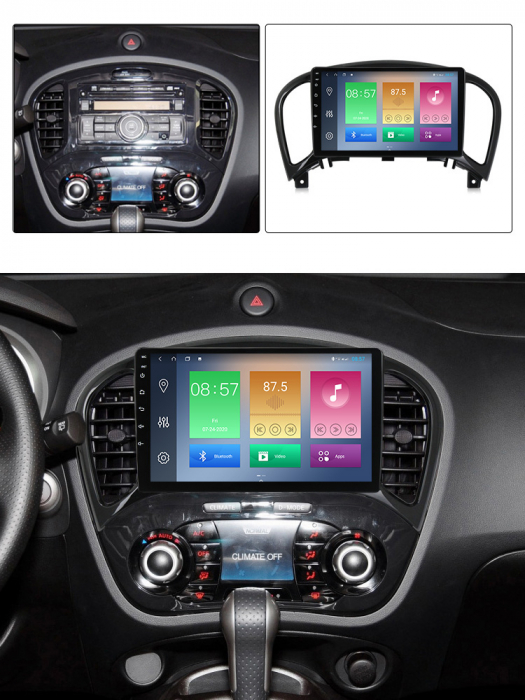 Navigatie Nissan Juke 2010-2014, NAVI-IT, 9 Inch, 2GB RAM 32GB ROM, Android 9.1, WiFi, Bluetooth, Magazin Play, Camera Marsarier [3]